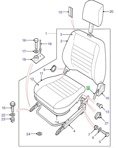asientos - accesorios land rover - productos